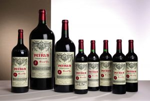 Part of a selection of 99 lots and 11 vintages of Chateau Petrus