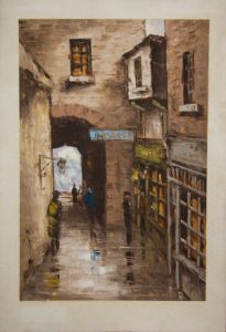 TOM CULLEN (1934 - 2001) MERCHANTS ARCH, DUBLIN OLD DUBLIN SERIES 1977 (500-700)