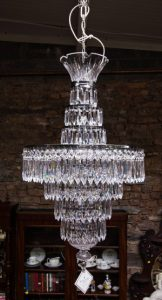 "LARGE WATERFORD CRYSTAL CHANDELIER ""ETOILE"" 41"" HIGH (6,000-9,000)"