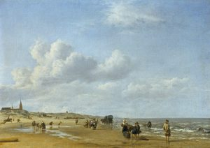 The beach at Scheveningen, Adriaen van de Velde, 1658.