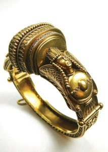A c1870 Archaeological Revival hinged bangle at Cobwebs.