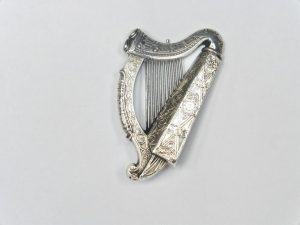 Harp brooch by Waterhouse of Dublin c1850 at The Silver Shop.