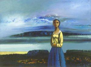Daniel O'Neill (1920-1974) Figure in a Landscape (30,000-40,000)