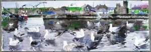 'Gulls in Slade Harbour, Co. Wexford',  by John Short