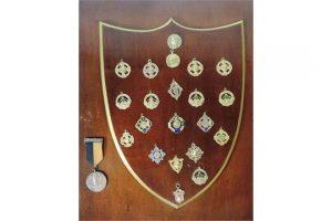 The Joe Barrett medal collection.