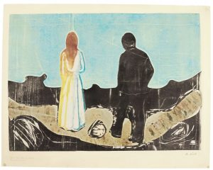 Edvard Munch - The Lonely Ones (£400,000-600,000)