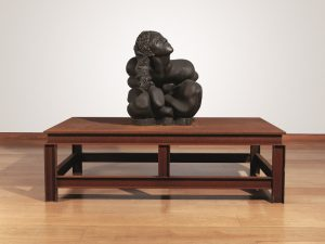 Thomas Schütte, Bronzefrau Nr. 13 (2003) Bronze figure on steel table (£1,200,000-1,800,000)