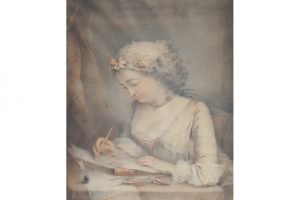 After Jean Baptiste Greuze - Portrait of a young scribe
