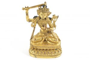 This gilt bronze Buddha sold for 17,000