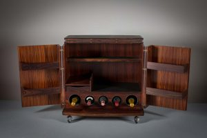 A DANISH ROSEWOOD MOBILE BAR, by CFC Silkeborg, 1960s (400-600)