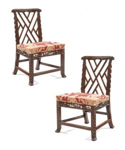 The Lulworth Castle Dragon Chairs will be at the Apter Fredericks stand at TEFAF New York
