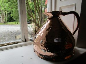 Irish Georgian Copper Measuring Jug with Dublin Makers Plaque (100-150)