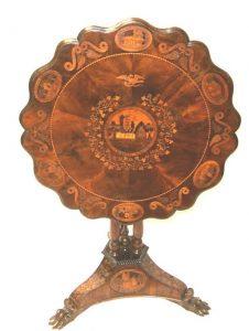 A Killarney wood tip top table