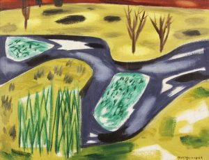 Norah McGuinness HRHA (1901-1980) Waterweeds on the Nore (4,000-6,000)
