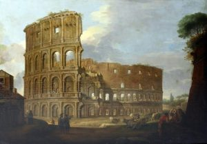 The Coliseum - one of a pair of Roman oils on canvas (20,000-30,000)