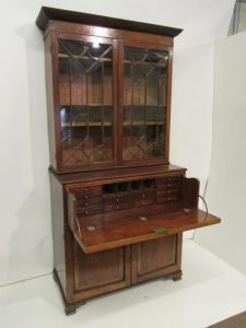 A Georgian Cork secrétaire bookcase
