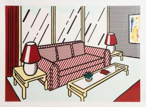 Roy Lichtenstein - Red Lamps (1990) - Interior Series (35,000-45,000)