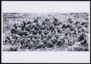 The men of 'B' Company 2/24th Regiment who survived Rorke's Drift.