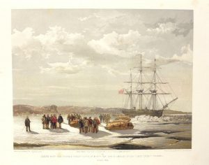 One of a series of eight sketches in colour of the North West Passage by Lt. S.G. Cresswell published in 1854