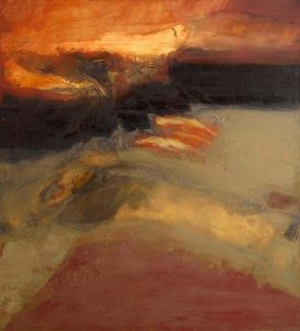 Red Earth VI by Hughie O'Donoghue sold for a hammer price of 28,000 at Morgan O'Drsicoll