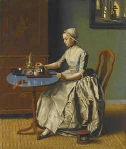 Jean-Etienne Liotard (1702-1789) 'A Dutch girl at breakfast', c. 1756-57