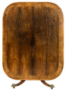 A Regency rosewood breakfast table. UPDATE: THIS MADE 1,200 AT HAMMER