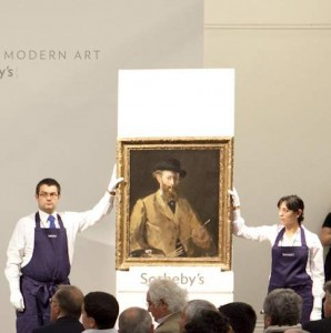 record selling Manet portrait