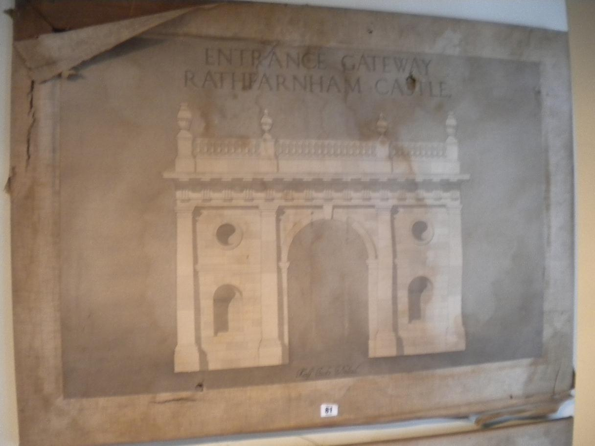 Drawing For Roman Style Arch Entrance At Rathfarnham