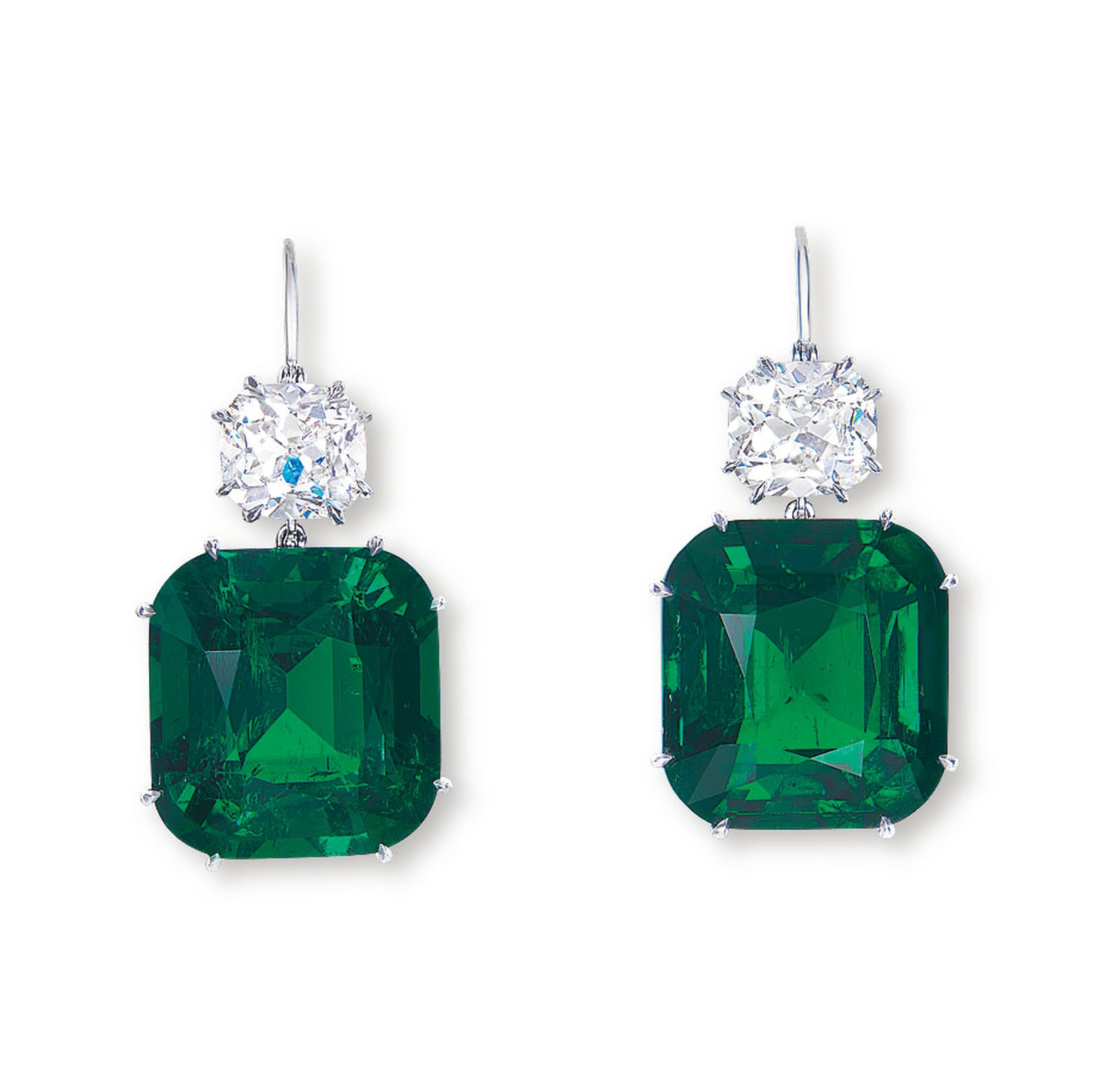World Record For Colombian Emerald Ear Pendants At