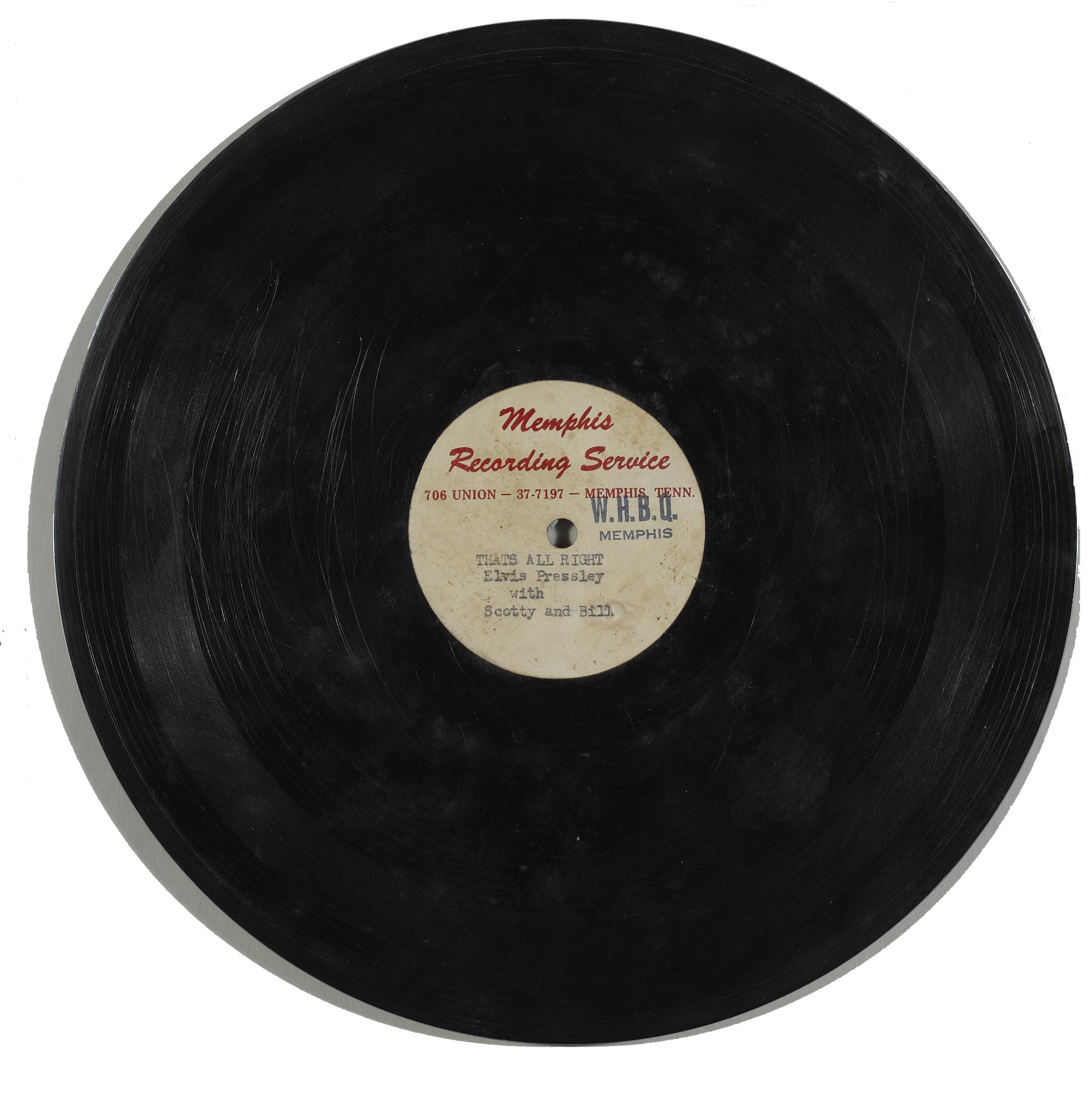 ORIGINAL ELVIS 1954 ACETATE AT DUBLIN AUCTION ...