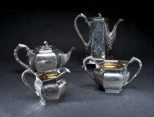 An Irish William IV tea set, Dublin 1834 presented to Patrick J. Smyth under the terms of the will of William Smyth O'Bryan. (6,000-10,000).