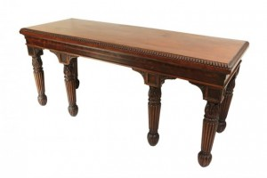 A REGENCY MAHOGANY HALL TABLE (1,000-1,500).
