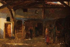 Walter Frederick Osborne RHA (1859-1903) An Interior of a Coach House (20,000-30,000).