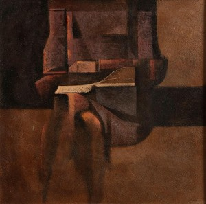 Colin Middleton RUA RHA (1910-1983) K Reading (The Artist's Wife) (15,000-20,000).