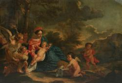 Circle of Van Dyke, Seventeenth-century Flemish - Madonna and Child in a landscape (5,000-8,000).