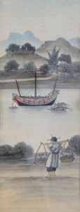 This 19th Japanese School watercolour  is estimated at 150-250.