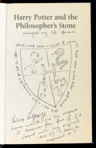 THE title page of J.K. Rowling's Harry Potter and the Philosopher's Stone.