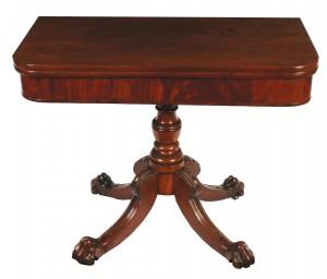 Regency  Cork fold over tea table (1,400-1,800).