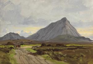 Errigal from Cashel na-Gor, Co. Donegal by FrankMcKelveyRHA RUA (1895-1974) - 4,000-6,000.