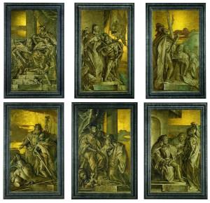 Giandomenico Tiepolo, Six frescoes.  (Click to enlarge).