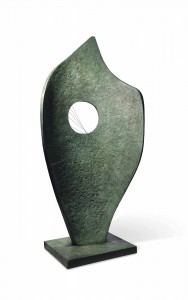 Dame Barbara Hepworth (1903-1975) Curved Form (Bryher II) (£1-1.5 million).  Courtesy Christie's Images Ltd., 2013.