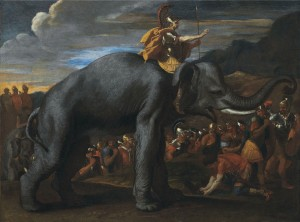 Nicolas Poussin (1594–1665) Hannibal crossing the Alps courtesy Christie's Images Ltd., 2013.