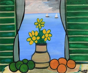 Markey Robinson (1918-1999) Still Life, Flowers and Fruit  (1,500-2,000).