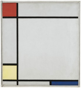 PIET MONDRIAN 1872 - 1944 COMPOSITION WITH RED, YELLOW AND BLUE oil on canvas in the artist's original frame 1927 (£4,500,000-£6,500,000).