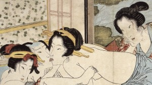 Keisai Eisen (1790 - 1848) Passion in the Snows of Spring, Copy of Kaseikyu (Detail) 1822 Illustrated book, folding album