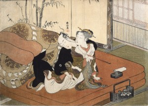 Suzuki Harunobu (ca. 1725 - 1770) Pipe (Detail) Circa 1770 Woodblock colour print