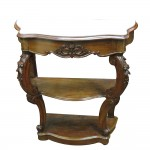 An Irish 19th century three tier consol table with marble top (1,200-1,800).