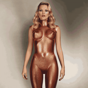 ALLEN JONES Kate Moss (bronze glitter), 2013 dye-destruction print image 42 ¾ x 42 ¾ in.  (£20,000-30,000), courtesy Christie's Images Ltd., 2013.