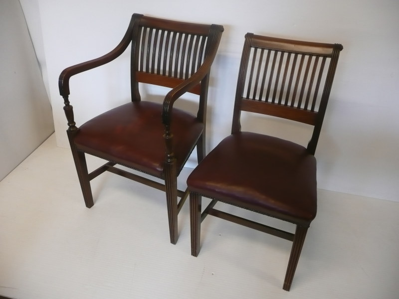 dining room furniture cork | CORK DINING CHAIRS AT LYNES AND LYNES AUCTION ...