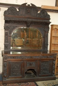 The sideboard once owned by Sir John Pope Hennessy at Marshs auction in Cork.